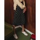 CACO-復古點點針織裙-女【VSH123】