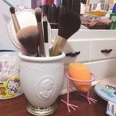 貴族浮雕肖像化妝刷筒化妝品收納盒化妝刷桶筆刷筒桌面收納筒收納WY 開學季特惠