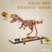 新款恐龍化石骨 拼裝玩具 益智拼插鉆石微顆粒小顆粒積木玩具 qz1695【甜心小妮童裝】