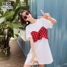 2019新款海南三亞普吉島沙灘裙女泰國海邊度假超仙波點連身裙夏裝
