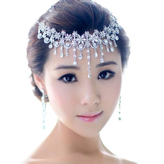頭飾 韓式新娘頭飾皇冠三件套結婚額飾項鍊飾品套裝婚紗禮服敬酒服配飾【限時八五鉅惠】
