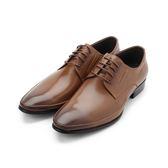 CHIC&F 真皮經典尖頭皮鞋 棕 ST936-1 男鞋 鞋全家福