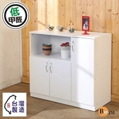 【BuyJM】低甲醛防潑水三門電器櫃/廚房櫃/電器架/收納櫃時尚白