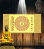 大佛頂首楞嚴神咒橫幅掛畫 楞嚴咒絲綢畫
