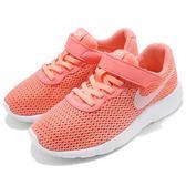 Nike 休閒鞋 Tanjun PSV 粉紅 白 免綁鞋帶 運動鞋 魔鬼氈 童鞋 中童鞋【PUMP306】 844872-602