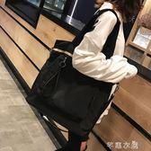 單肩包女大包學生校園韓版包包大容量簡約百搭布袋包帆布文藝斜背 千惠衣屋