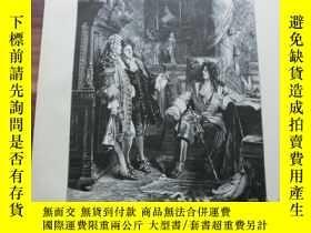 二手書博民逛書店【罕見】1887年木刻木刻版畫《內閣》(Im cabinet s