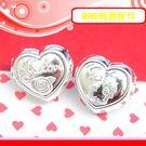 銀鏡DIY S990純銀DIY材料配件/LOVE玫瑰&小親親情侶愛心形穿式墜飾~適合手作蠶絲蠟線/幸運繩