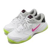 Nike 網球鞋 Wmns Court Lite 2 白 粉紅 螢光綠 女鞋 運動鞋 【ACS】 AR8838-107