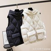 羽絨棉馬甲女外穿韓版2020年新款短款秋冬修身無袖坎肩外套馬夾潮 美眉新品