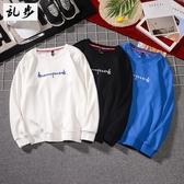 加絨衛衣Tee男刺繡圓領上衣長袖T恤 修身款