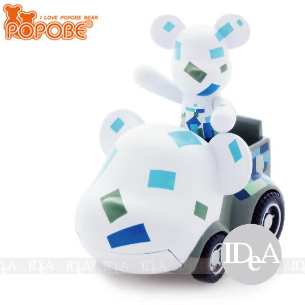 POPOBE熊 車載系列 2吋公仔車飾 小汽車玩具擺飾 經典方形 塊 非 暴力 momo BE@RBRICK IDEA