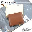 Crocodile鱷魚皮夾真皮短夾男夾皮包-中翻可拆0103-58042咖啡