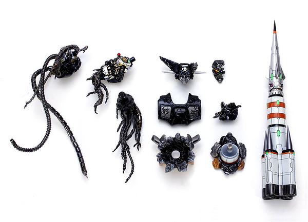 EX合金PLUS ROBOT師WORKS 蓋特機器人1號 最終決戰配件 黑色ver. 無本體 代理 玩具e哥00017