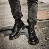 靴子 馬丁靴男英倫皮靴中高幫軍靴夏季中大尺碼長筒靴子男馬丁鞋復古皮質