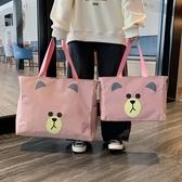 旅行包包-旅行包袋可愛輕便大容量女手提旅游包包帆布短途行李袋子手提學生 YJT
