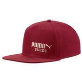 Puma 紅色 運動帽 老帽 刺繡 logo 六分割帽 6-Panel 經典棒球帽 運動帽 棒球帽 02148902
