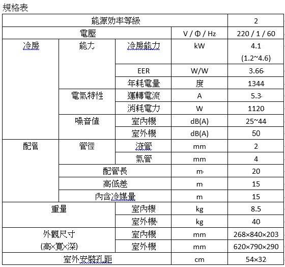 富士通 Fujitsu 一對一 單冷 變頻分離 ASCG-40JMT / AOCG-40JMT