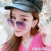 女士太陽眼鏡 墨鏡女潮眼鏡2018新太陽鏡女士圓臉韓國復古優雅個性 芭蕾朵朵