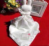 嬰兒安撫巾 新生兒玩具兔子玩偶陪睡公仔 可入口禮盒【全館免運八五折】