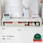 辦公室電腦顯示器增高架子桌面整理收納置物架【福喜行】