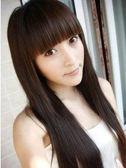 【WAK】 W287 仿真時尚日韓流行氣質長直髮齊瀏海假髮全頂式高溫耐熱絲