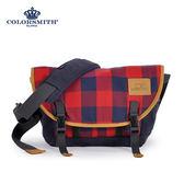 【COLORSMITH】CC・隨行郵差包-紅藍格紋・CC1288-RB-S