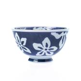 有田燒輕量飯碗 花-藍11.5cm