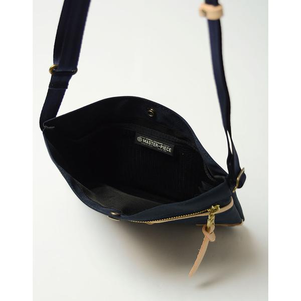 MSPC(master-piece) SURPASS-V2 No.12185-V2 [高質感原色牛皮拼接後側背包-黑色]