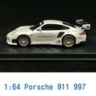 PC CLUB 1/64 模型車 Porsche 保時捷 911 997 PC640002E 珍珠白
