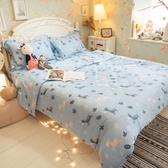 天絲床組 木馬斑斑 QPM4雙人加大鋪棉床包鋪棉兩用被四件組(40支) 100%天絲 棉床本舖