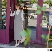 《MA0257-》V領背心雙口袋下襬開衩洋裝 OB嚴選