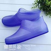 韓國時尚低幫女成人防滑短筒淺口透明防水膠鞋    SQ4514『樂愛居家館』