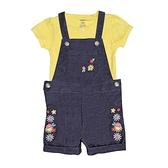 【北投之家】女寶寶吊帶褲套裝 牛仔吊帶短褲+短袖T恤 二件組 深藍花 | Carter s卡特童裝 (嬰幼兒)