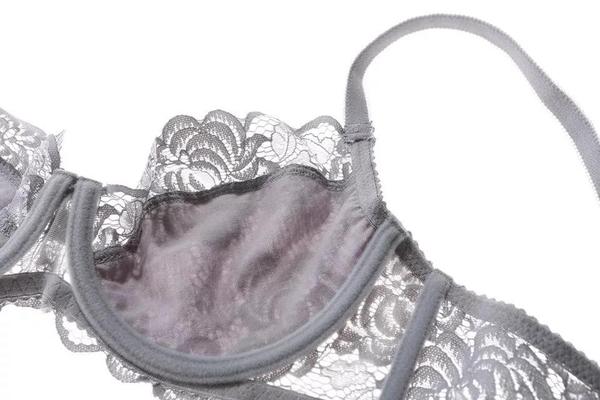 成套內衣免運●羅莉莎女爵 法式蕾絲性感-超薄雙層D杯●預購藍黑灰紅白色[U1491]滿額送愛康衛生棉