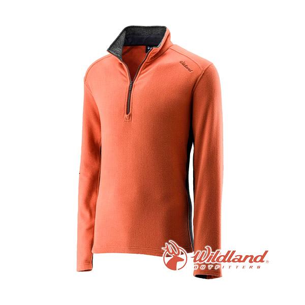 [Wildland] 荒野 (男) 彈性奈米銀PILE保暖上衣 橘 (0A22502-84)