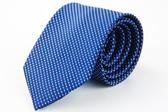 【Alpaca】藍色斜紋白點領帶