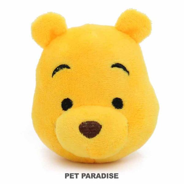 【PET PARADISE 寵物精品】DISNEY 維尼POOH大臉啾啾玩具 寵物玩具 繩結玩具