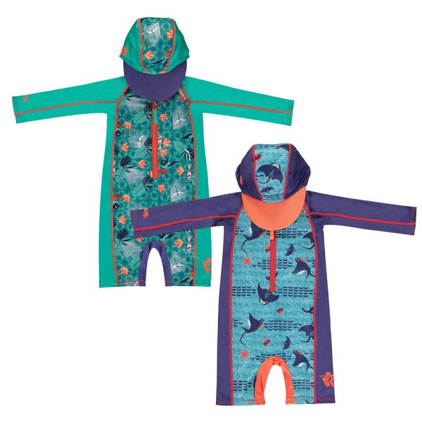 英國 Close Pop-in 嬰兒連帽海灘裝|泳衣(蜂鳥/魟魚)1~4歲+