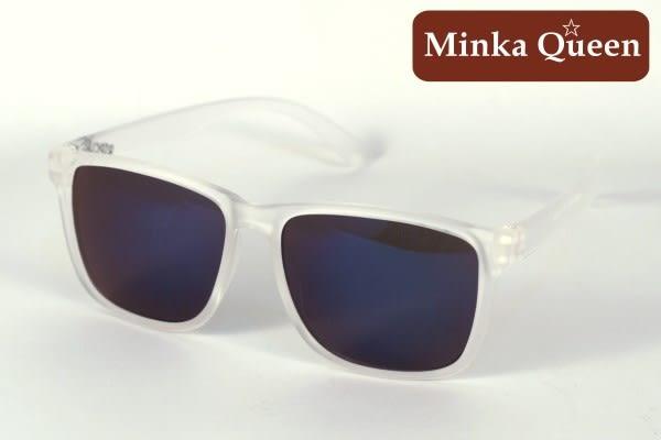 Minka Queen 夏日炫彩 率性深藍彩膜反光鏡片(抗UV400)潮流必備個性百搭流行太陽眼鏡