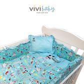 【ViVibaby】Disney米奇愛旅行五件組寢具(藍/粉)