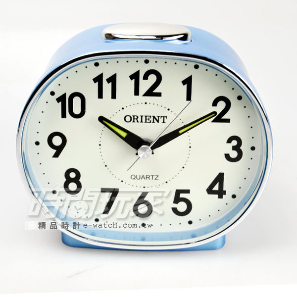 ORIENT 東方錶品牌 簡約電 數字時刻鬧鈴 鬧鐘 AQ237藍