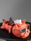 抽紙盒擺件輕奢風高檔紙巾盒客廳創意茶幾遙控器收納紙抽多功能 初色家居馆