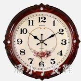 掛鐘掛鐘客廳時尚圓形鐘錶創意電子鐘家庭靜音時鐘掛錶 XW2570【潘小丫女鞋】