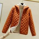 2020新款冬季韓版菱格bf棒球服棉衣外套女短款金絲絨原宿小棉服潮 米希美衣