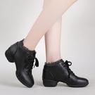 舞蹈鞋女成人廣場舞鞋2020新款秋冬季跳舞鞋女式中跟軟底水兵舞鞋