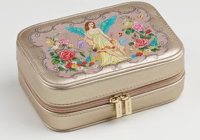 玫瑰坊精緻便攜式首飾盒 公主歐式特價韓國包郵閨蜜結婚生日禮物