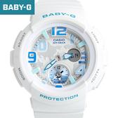 Baby-G 清新白藍雙顯手錶 柒彩年代【NECB13】casio BGA-190-7BDR