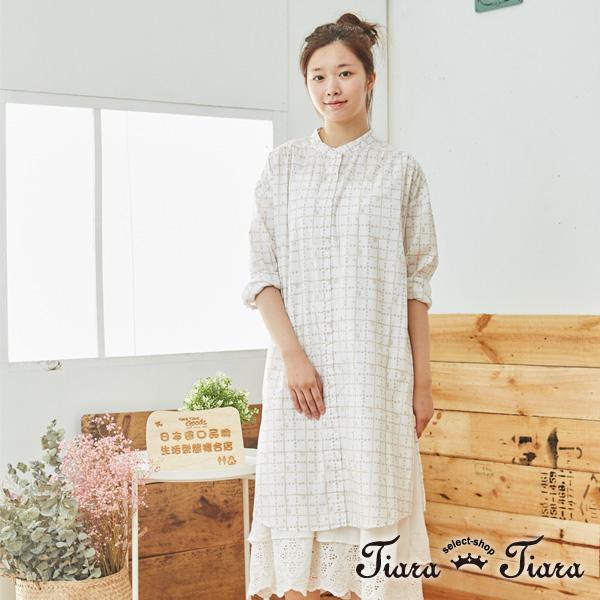 【Tiara Tiara】 百貨同步aw 田園風方格玫瑰小花前開襟洋裝(白/藍/黃)