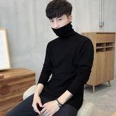 男士修身打底衫高領毛衣純色針織衫長袖韓版冬季加厚線衫男裝    時尚教主